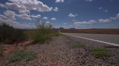 Hwy 163 toward Monument Vally Forrest Gump Point Stock Footage