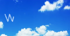 Welcome cloud word on the blue sky and white clouds Stock Footage