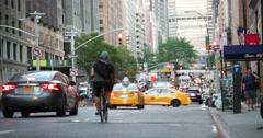Street Traffic on Park Avenue in Manhattan New York City 4K Stock Footage