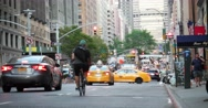 Street Traffic on Park Avenue in Manhattan New York City 4K Stock Footage