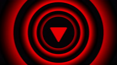 Falling arrow sign surrounded by red blurred circles - visual illusion. Stock Footage