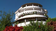 Slider shot of Andalucian style apartment block. Stock Footage