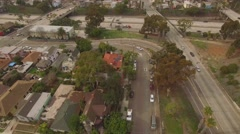Golden Hill toward East Village Downtown San Diego Aerial 4K Stock Footage