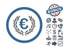Euro Glory Flat Vector Icon With Bonus Stock Illustration