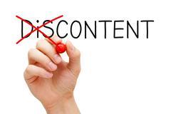 Content Not Discontent Concept Stock Photos