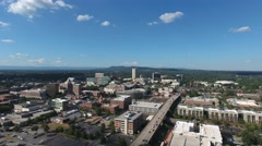 Greenville Skyline Slow Fly Out Stock Footage