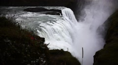 Close Up View of the Gullfoss Falls  Stock Footage