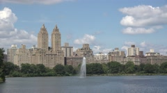 The Jacqueline Kennedy Onassis Reservoir in Central Park, Manhattan, New York. Stock Footage