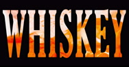 High resolution text with word whiskey shape filled with whisky Stock Footage