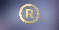 Register Trademark Gold 3d Icon Stock Footage