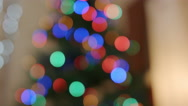 Amazing bokeh of christmas lights Stock Footage
