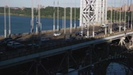 Traffic on George Washington Bridge New York Stock Video Stock Footage