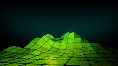 Polygon Mountain HD - low angle - LOOP Stock Footage