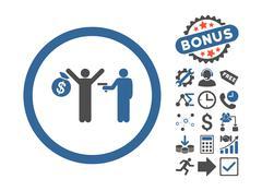 Robbery Flat Vector Icon With Bonus Stock Illustration