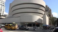 The Guggenheim Museum, Manhattan, New York, United States. Stock Footage