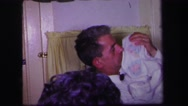 1974: our first christmas night with my family, we spend a great night Stock Footage