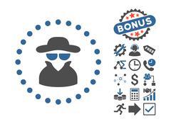 Spy Flat Vector Icon With Bonus Stock Illustration