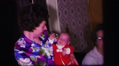 1974: a indoor family scene LYNBROOK, NEW YORK Stock Footage