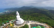 Aerial view the beautify Big Buddha Stock Footage