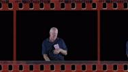 Sleeping man in film Stock Footage