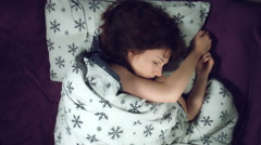 4k Authentic Shot of a Girl in Bed Sleeping Stock Footage