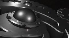 Rotating gears closeup Stock Footage