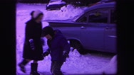 1974: a snowball fight scene is seen LYNBROOK, NEW YORK Stock Footage
