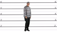 Prisoner lineup Stock Footage