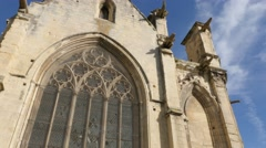 Architecture of Mairie St Etienne le Vieux in the center of the city of Caen Stock Footage