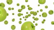 Green apple Stock Footage