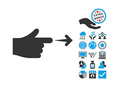 Index Hand Flat Vector Icon With Bonus Stock Illustration