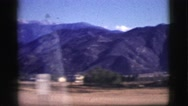 1961: driving through mountains CLARKSDALE, ARIZONA Stock Footage
