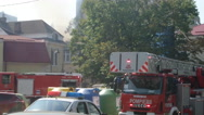 Fire At Heritage House In Bucharest Stock Footage
