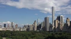 Aerial view across Central Park, Manhattan, New York, United States. Stock Footage