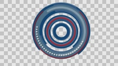 Trim paths 3 red white and blue with alpha channel 4K Stock Footage