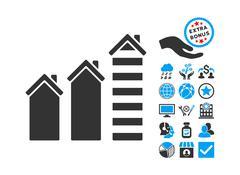 Realty Trend Flat Vector Icon With Bonus Stock Illustration