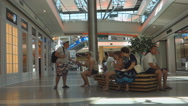 Editorial: Burgas Mall Galleria the largest shopping c Stock Footage