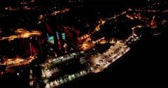 CAMPIONE D'ITALIA - Europe's Biggest Casino // Aerial Footage - Night // 4K Stock Footage