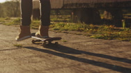 Man Skateboarding Outdoors in Urban Environment. Stock Footage