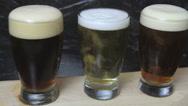 Flight of beer Stock Footage