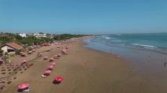 Seminyak beach aerial view, Bali Stock Footage