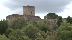 Templar Castle and Convent of Christ City Tomar Portugal Stock Footage
