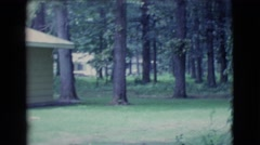 1961: someone's video memory of their peaceful neighborhood scenery. CLARKSDALE Stock Footage