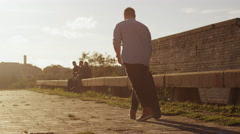 Man Skateboarding Outdoors in Urban Environment. Stock Footage