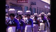 1961: every time of the year in our city was organized this parade or karneval. Stock Footage