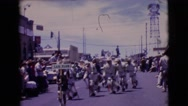 1961: parades are fun thing to do and keeping repeating it CLARKSDALE, ARIZONA Stock Footage
