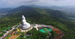 Phuket's Big Buddha is the most beautiful statue Buddha left side of big Buddha  Stock Footage
