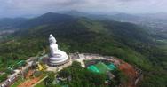 Phuket's Big Buddha is the most beautiful statue Buddha left side of big Buddha  Stock Footage