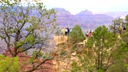 Tourists at the Grand Canyon Stock Footage