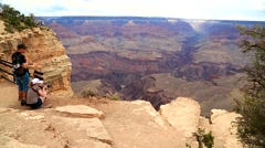 Taking Pictures at the Grand Canyon. Stock Footage
